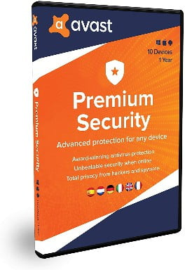 Avast Premium Security 2020 Multidispositivos 10 dispositivos 1 Año En Caja