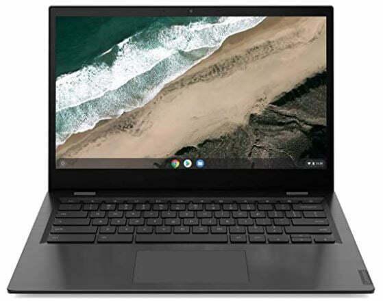 "Lenovo Chromebook S345 - Portátil 14"" FullHD (AMD A4-9120C, 4GB RAM, 32GB eMMC, AMD Readeon Graphics, Chrome OS), Color Gris - Teclado QWERTY español"