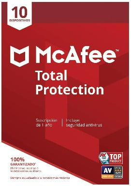 McAfee Total Protection - Antivirus 10 Dispositivos Suscripción de 1 año PC Mac Android Smartphones