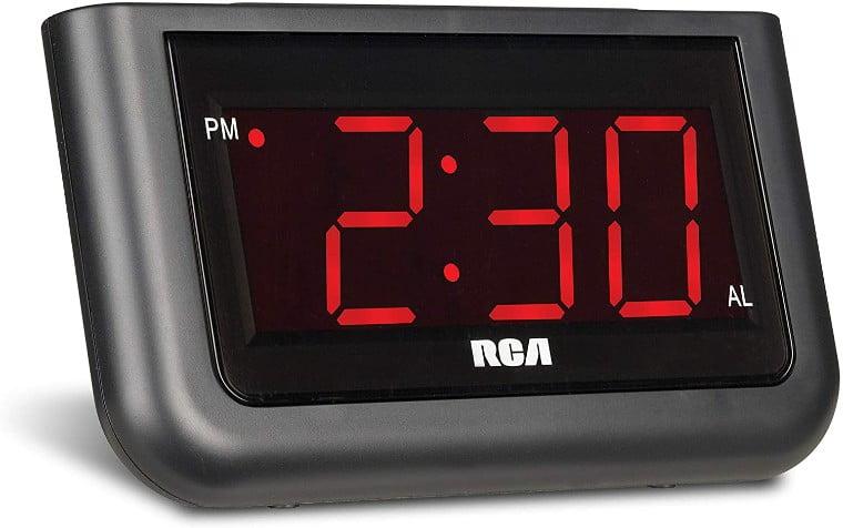 RCA-RCD30-Negro-Despertador-Negro-LED-Rojo