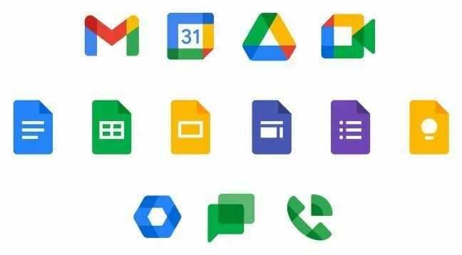 logos de la suite de google
