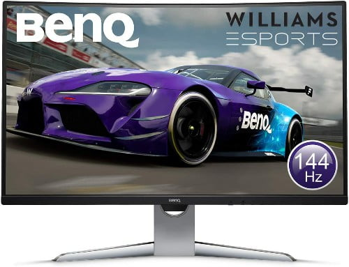 BenQ EX3203R - Monitor Curvo Gaming de 31.5 (QHD 2K, 144 Hz, HDR, FreeSync 2, Sensor B.I, HDMI, Display Port, USB-C
