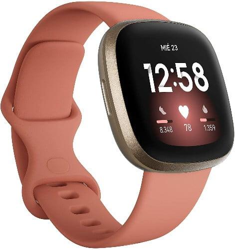 Los Mejores Relojes inteligentes del 2020 Fitbit Versa 3 - Smartwatch de salud y forma física con GPS integrado, análisis continuo de la frecuencia cardiaca, Alexa integrada