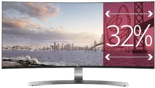Los Mejores Monitores Curvos del 2020 LG 34UC98-W - Monitor UltraWide Curva de 87 cm (34 pulgadas, Quad HD, IPS, LED, 3440 x 1440 pixeles