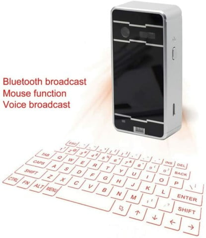 AGS Wireless Laser Projection Bluetooth Virtual Keyboard for Iphone, Ipad, Smartphone and Tablets ok
