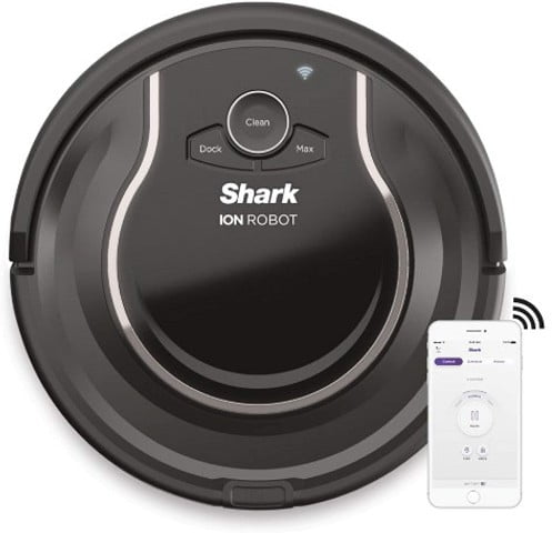 Aspiradora SHARK Ion ROBOT 750 con conectividad Wi-Fi + Control de voz, funciona con Amazon Alexa (RV750)