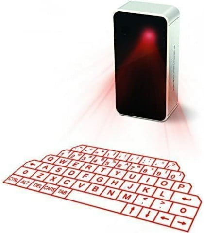 Los Mejores Teclados Láser para 2021 Virtual Keyboard, Laser Projection Bluetooth Wireless Keyboard for iPad iPhone 7 Samsung Galaxy S6 S7 Edge