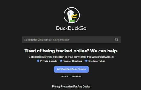 DuckDuckGo mejor buscadores de internet con privacidad