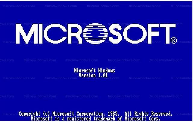 Arranque del sistema operativo Windows 1.0