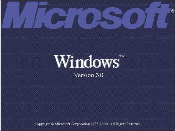 Arranque del sistema operativo Windows 3.0