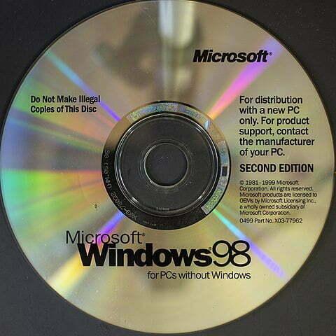 Windows 98 primera versión diseñada para los clientes