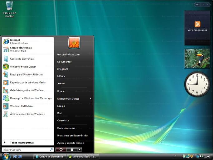 Menú Inicio Windows Vista