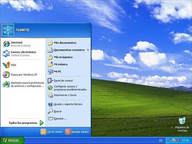 Windows XP segundo sistema operativo más popular de Microsoft, después de Windows 7