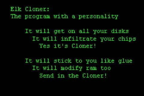 Mensaje mostrado por Elk Cloner