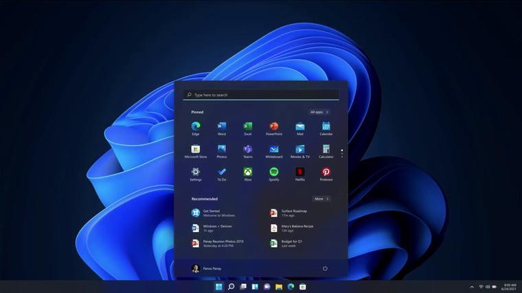 Interfaz de Windows 11
