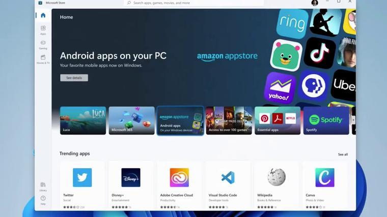 Nueva interfaz de Microsoft Store