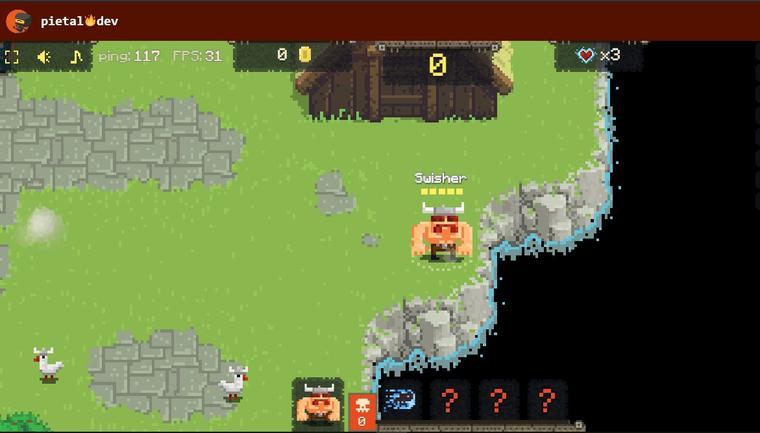 Interfaz del juego Vikings Village: Party Hard