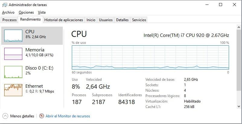 Monitorizar el rendimiento de tu computadora