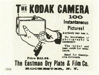 Cartel promocional de laCartel promocional de la Kodak 100 Vista Kodak 100 Vista